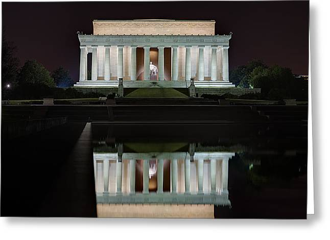 Abe Greeting Cards - Lincoln Reflection Greeting Card by Metro DC Photography
