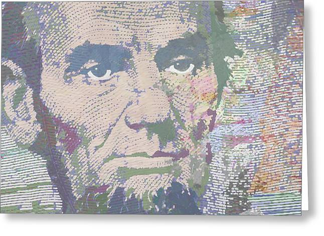Slavery Mixed Media Greeting Cards - Lincoln Reimagined Horizontal Greeting Card by Tony Rubino