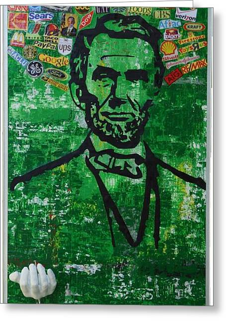 Proclamation Mixed Media Greeting Cards - Lincoln- Texas Greeting Card by Alireza Vazirabadi