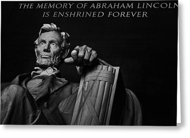 Historic Statue Digital Art Greeting Cards - Lincoln The Legacy of a President Greeting Card by Eduard Moldoveanu