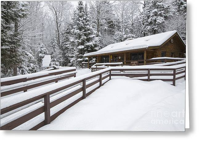 Lincoln Woods Ranger Headquarters - Lincoln New Hampshire Usa Greeting Card by Erin Paul Donovan