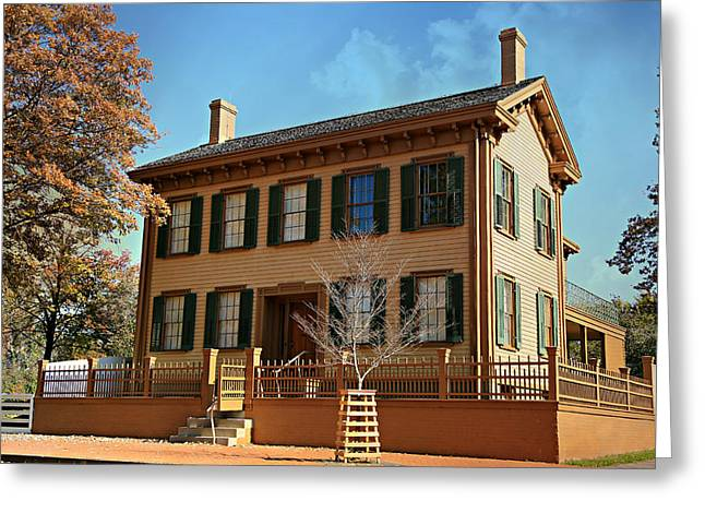 Historic Site Greeting Cards - Lincolns Home -- Springfield Greeting Card by Stephen Stookey