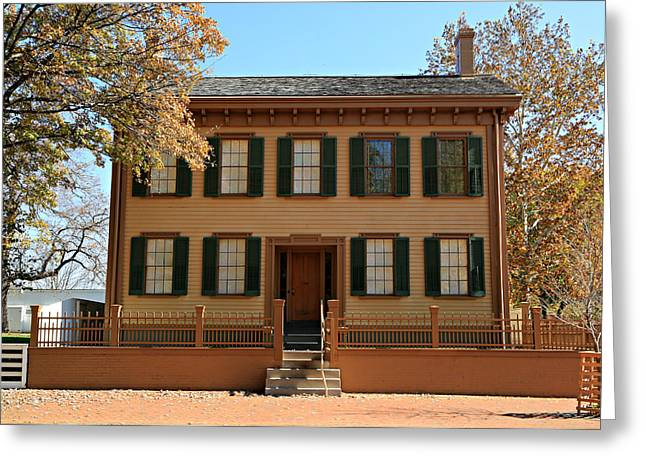 Historic Site Greeting Cards - Lincolns Home Greeting Card by Stephen Stookey