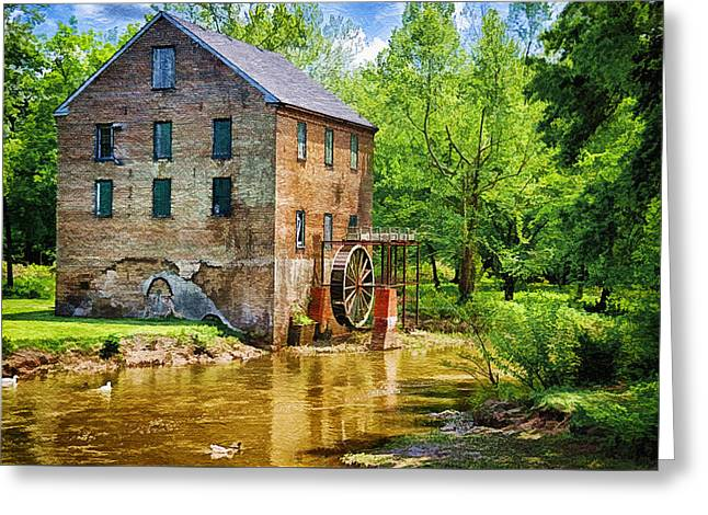 Slaves Greeting Cards - Lindale Old Brick Mill Greeting Card by Priscilla Burgers