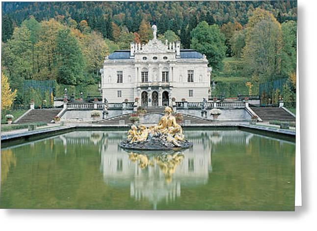Reflecting Pool Greeting Cards - Linderhof Castle Germany Greeting Card by Panoramic Images