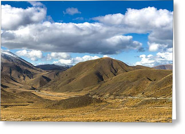 Roadway Greeting Cards - Lindis Pass New Zealand Greeting Card by Darren Patterson