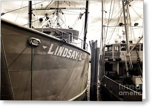 Lindsay Greeting Cards - Lindsay L Greeting Card by John Rizzuto