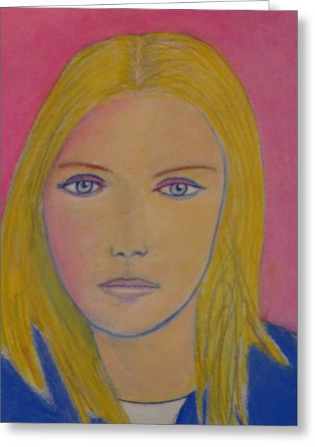 Olympics Pastels Greeting Cards - Lindsey Vonn Greeting Card by Manuel Matas