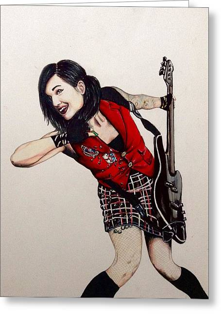 Role Models Drawings Greeting Cards - Lindsey Way  Greeting Card by Jeszy Arnold