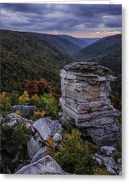 Lindy Greeting Cards - Lindy Point Evening Greeting Card by Tom Fretz