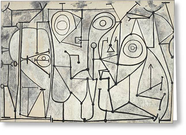 line art painting by pablo picasso