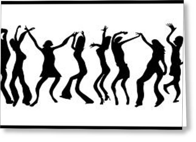 Life Line Digital Art Greeting Cards - Line Dance Greeting Card by Daniel Hagerman