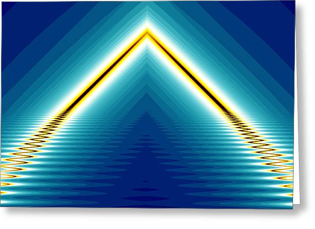 Hallucination Greeting Cards - Line light Greeting Card by Odon Czintos