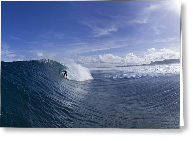 Surfer Art Greeting Cards - Line Of Anticipation Greeting Card by Sean Davey
