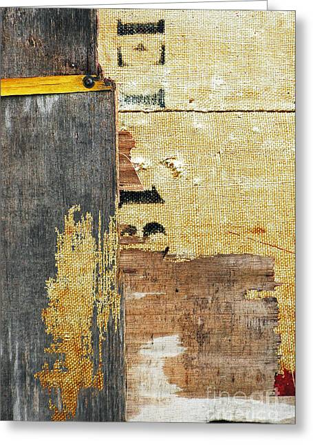 Anahi Decanio Greeting Cards - Linen and Burlap Abstract Greeting Card by Anahi DeCanio