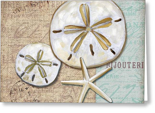 Calm Greeting Cards - Linen Shell II Greeting Card by Paul Brent