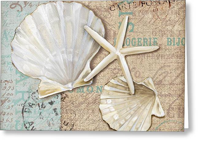 Calm Greeting Cards - Linen Shells I Greeting Card by Paul Brent