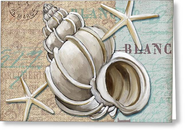 Calm Paintings Greeting Cards - Linen Shells IV Greeting Card by Paul Brent