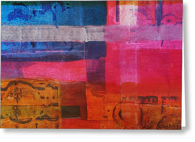 Lines And Colors Greeting Card by Nancy Merkle