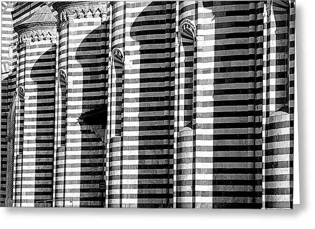 Orvieto Greeting Cards - Lines and Shadows Greeting Card by Valentino Visentini