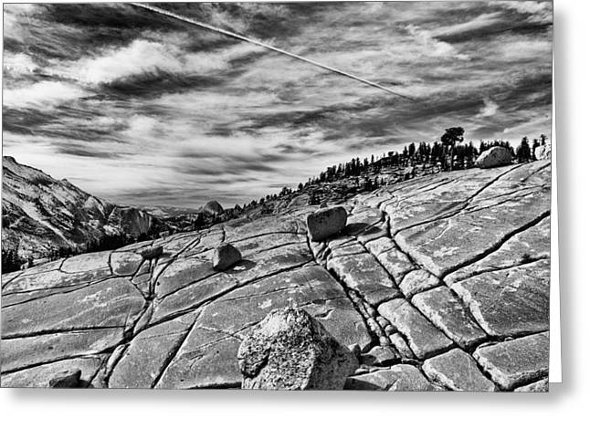 Hiking Greeting Cards - Lines Greeting Card by Cat Connor
