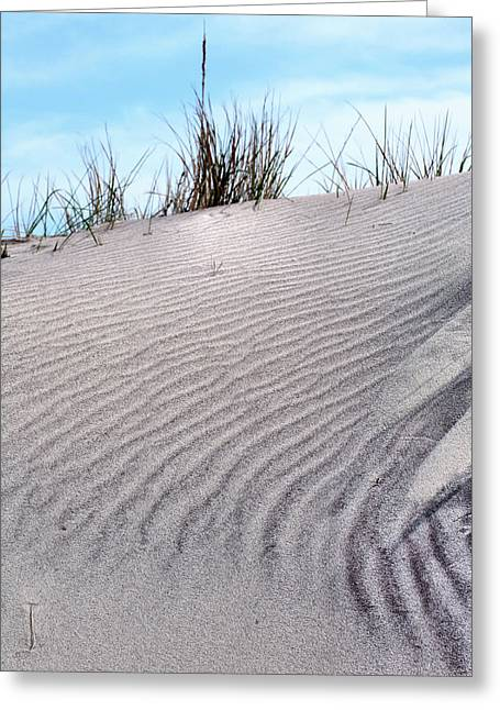Jones Beach Greeting Cards - Lines in the Sand Greeting Card by JC Findley