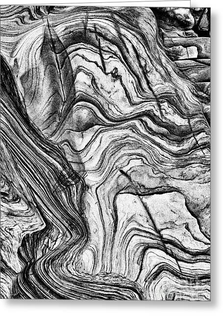 White Sandstone Greeting Cards - Lines in Time Greeting Card by Tim Gainey