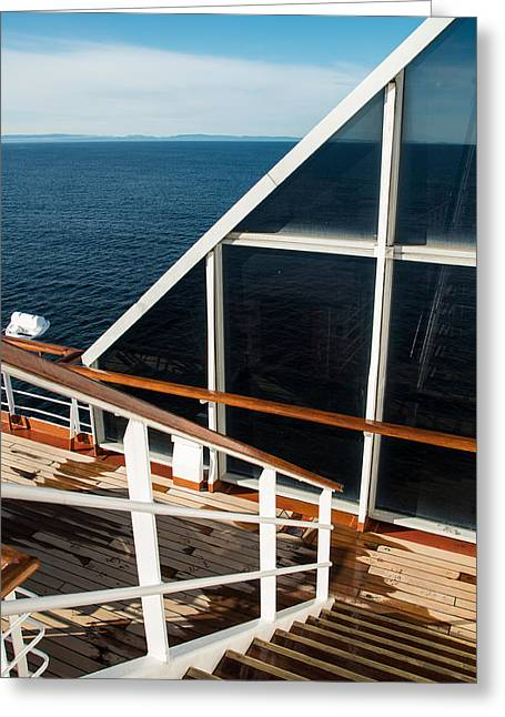 Wooden Stairs Greeting Cards - Converging Lines Greeting Card by Marilyn Wilson