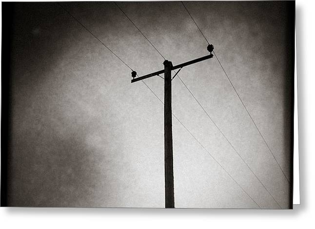 Lines of Communication Greeting Card by Dave Bowman