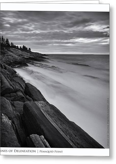 Maine Lighthouses Greeting Cards - Lines of Delineation Greeting Card by Chad Tracy