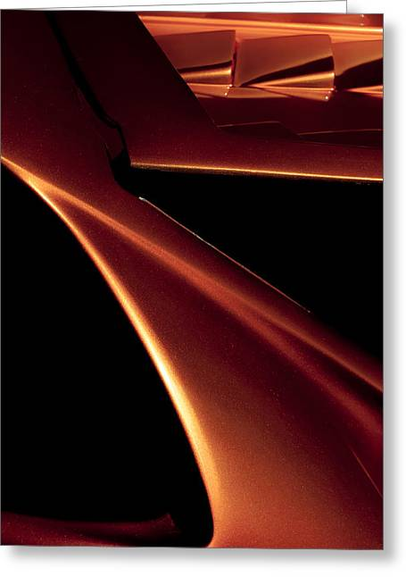 Abstract Expression Photographs Greeting Cards - Lines of Lamborghini - Abstract Auto Art Greeting Card by Steven Milner
