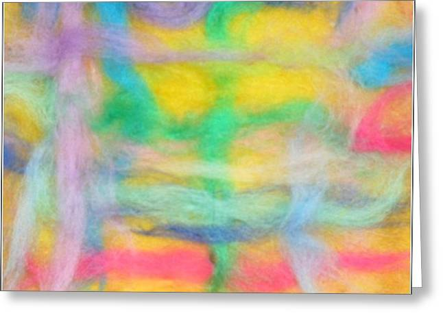 Bright Tapestries - Textiles Greeting Cards - Lines of Marvelous Structure Greeting Card by Natalia Levis-Fox