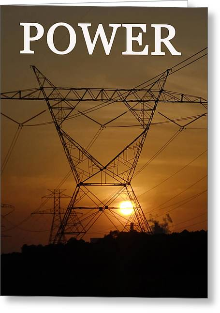 Commercial Photography Digital Greeting Cards - Lines of Power Greeting Card by David Lee Thompson