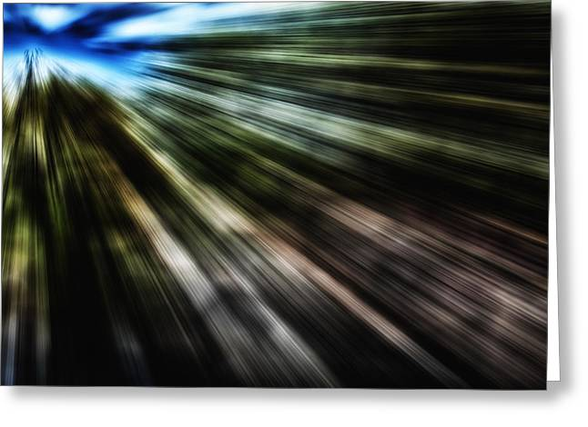 Abstract Style Greeting Cards - Lines Greeting Card by Todd and candice Dailey