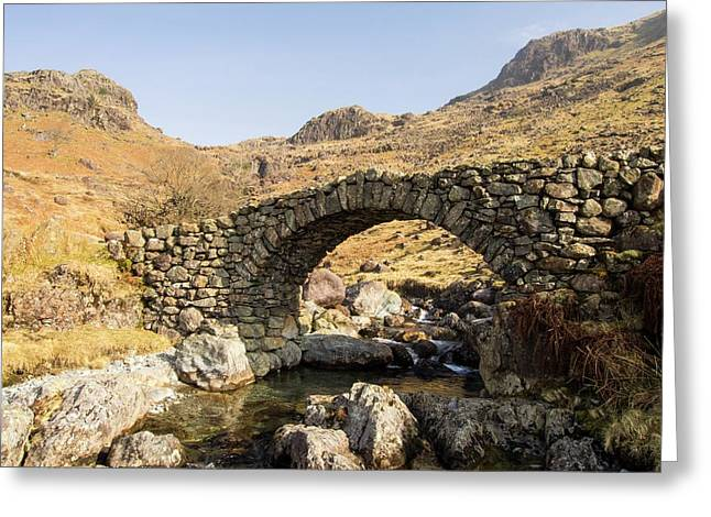 Lingcove Bridge On Lingcove Beck Greeting Card by Ashley Cooper
