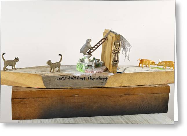 Toy Boat Mixed Media Greeting Cards - Linger_2010 Greeting Card by Steve Tannenbaum