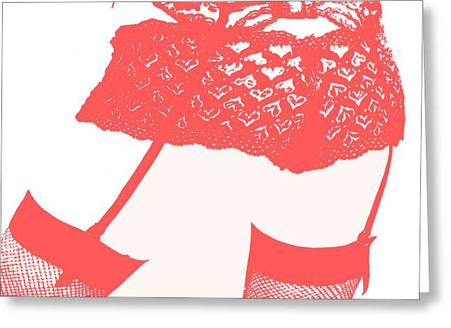 Lingerie IIi Red Greeting Card by John Silver