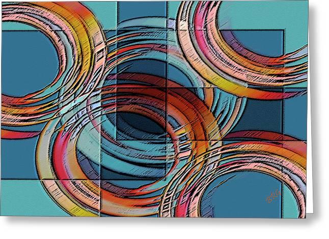 Festivities Digital Art Greeting Cards - Links Greeting Card by Ben and Raisa Gertsberg