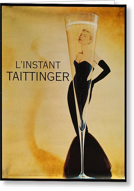 L'instant Taittinger Greeting Card by Georgia Fowler