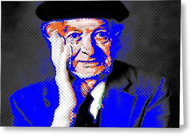 Peace Activist Greeting Cards - Linus Pauling Greeting Card by Gerhardt Isringhaus