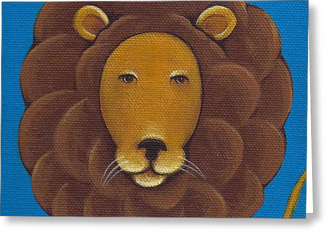 Large Cats Greeting Cards - Lion Greeting Card by Christy Beckwith