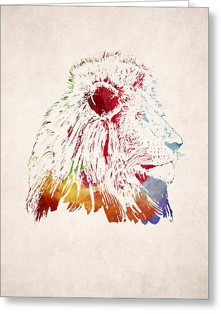 Lion Illustrations Greeting Cards - Lion Drawing - King of the Jungle Greeting Card by World Art Prints And Designs