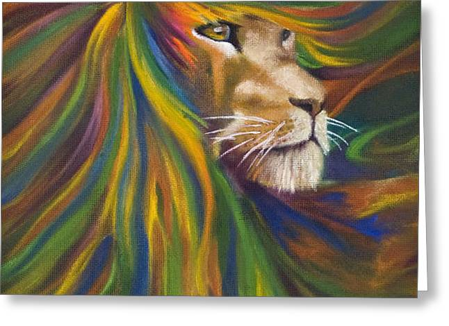 Lion Greeting Card by Kd Neeley