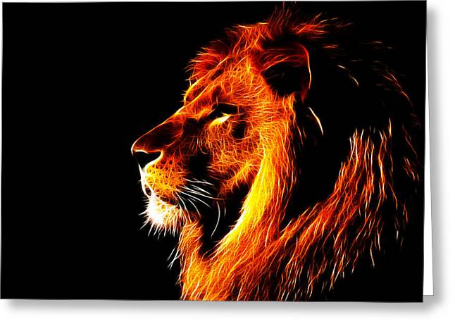 Observer Greeting Cards - Lion King Greeting Card by Fellow Store