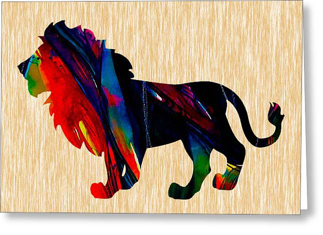 Tiger Greeting Cards - Lion king of the jungle Greeting Card by Marvin Blaine