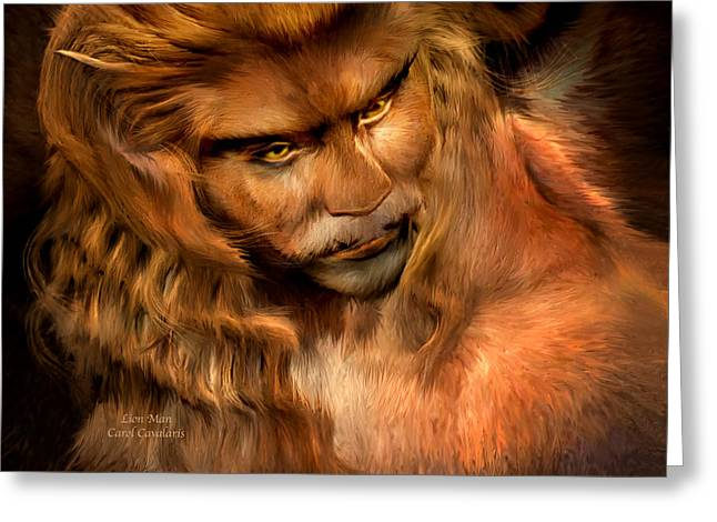 Beauty And The Beast Greeting Cards - Lion Man Greeting Card by Carol Cavalaris