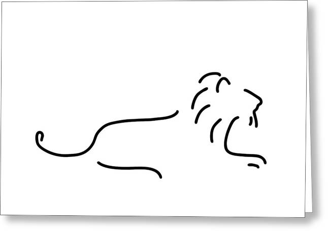 Lion Mane Greeting Card by Lineamentum