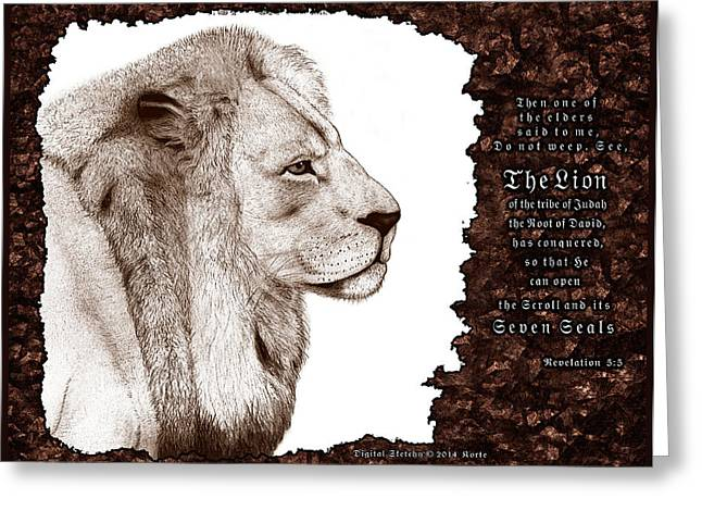 Lion Of Judah Greeting Card by Christopher Korte