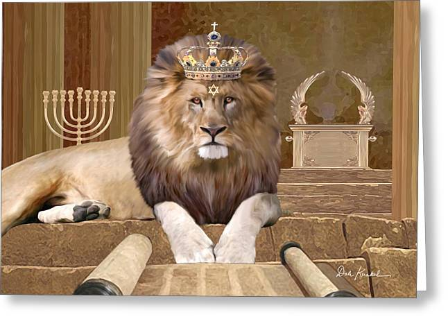 Christ Art Greeting Cards - Lion of the Tribe of Judah Greeting Card by Dale Kunkel Art