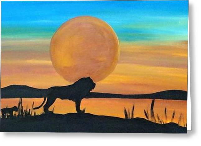 Lioness Greeting Cards - Lion Pride Greeting Card by Rachel  Olynuk
